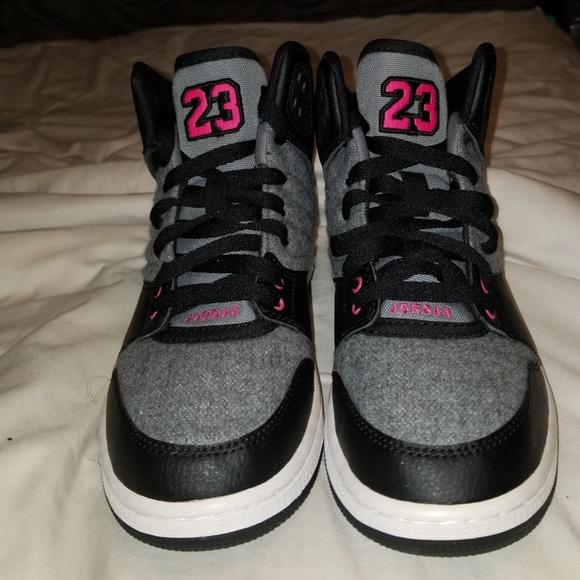 15677aaf7d6 Jordan Shoes | Black Pink Gray Girls Air S | Poshmark